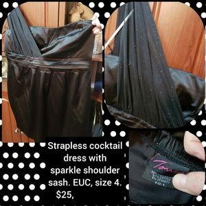 Torrid, size 24, strapless cocktail dress.